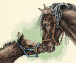 Counted Cross Stitch: Mother and Colt